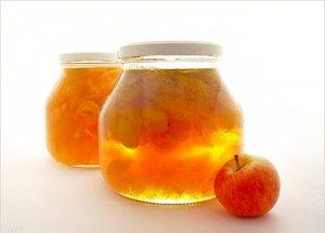 Варенье из яблок с мятой и базиликом