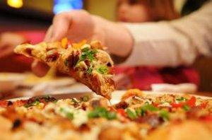 Грибная картофельная пицца