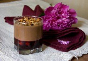 Шоколадно-вишневый пудинг