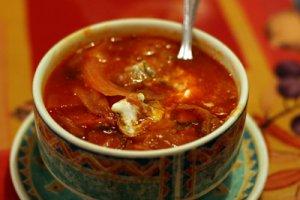 Окрошка из кильки в томатном соусе