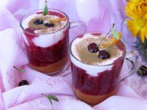 Вишнево-абрикосовый десерт