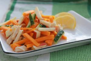 Салат с кальмаром и тыквой