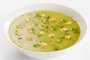 Гороховый суп с печенью